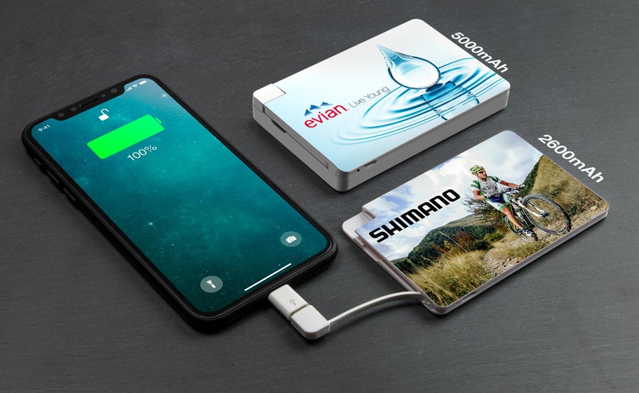 Card - Mobiles Ladegerät bedruckt