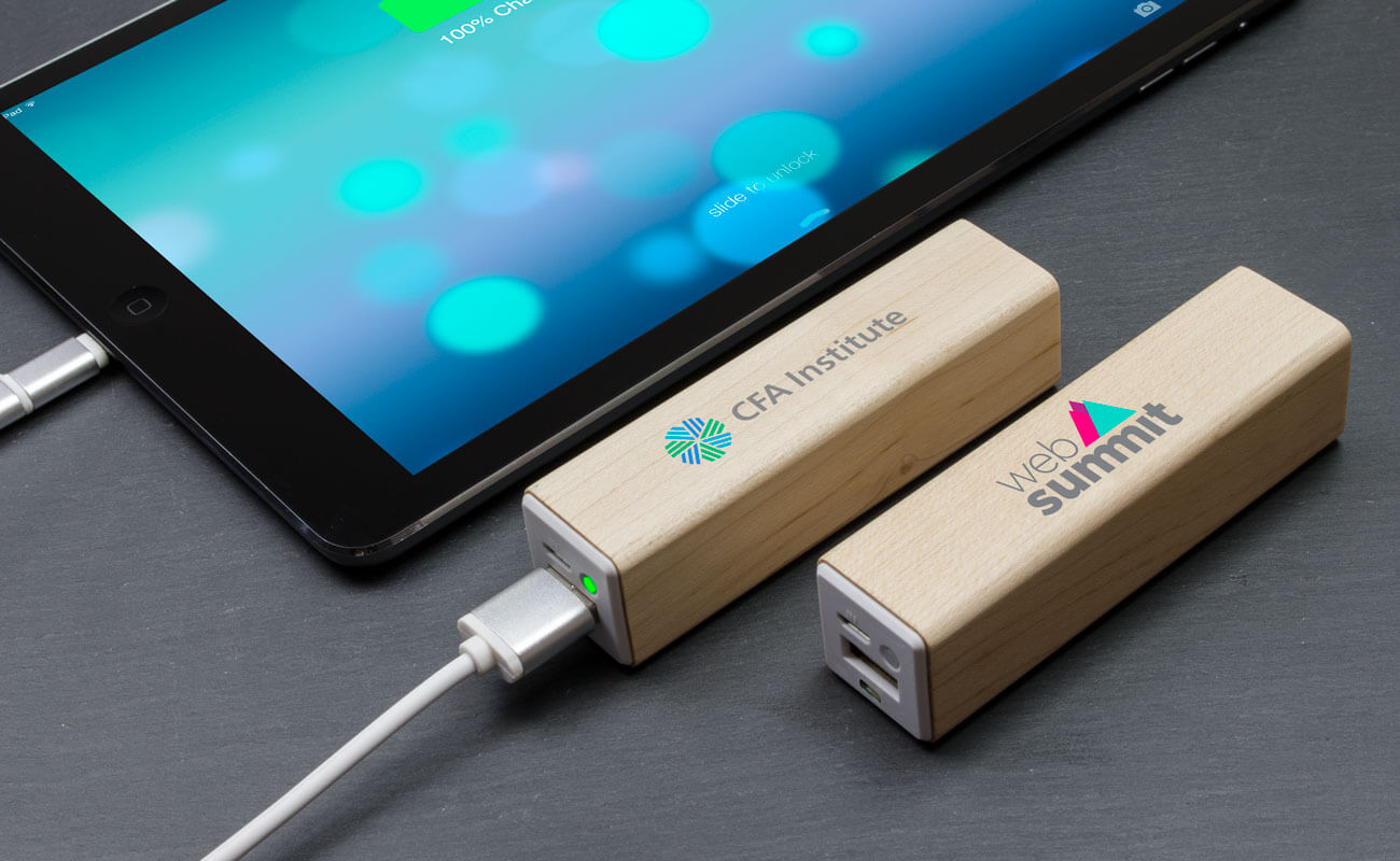 Maple - Powerbank bedrucken