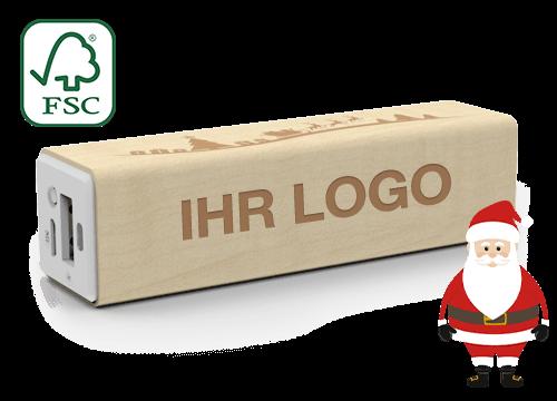 Maple Christmas - Smartphone Ladegerät mit Logo