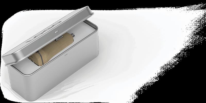 Woodie - USB Ladegerät mit Logo