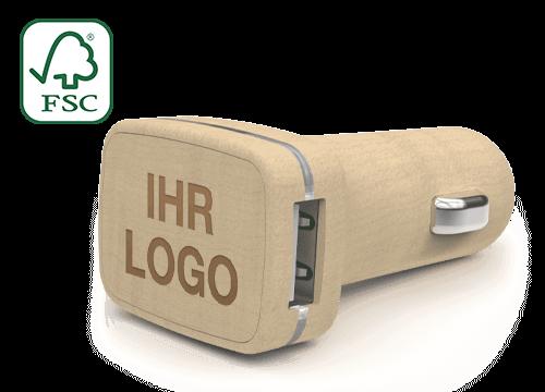 Woodie - Autoladegerät mit Logo