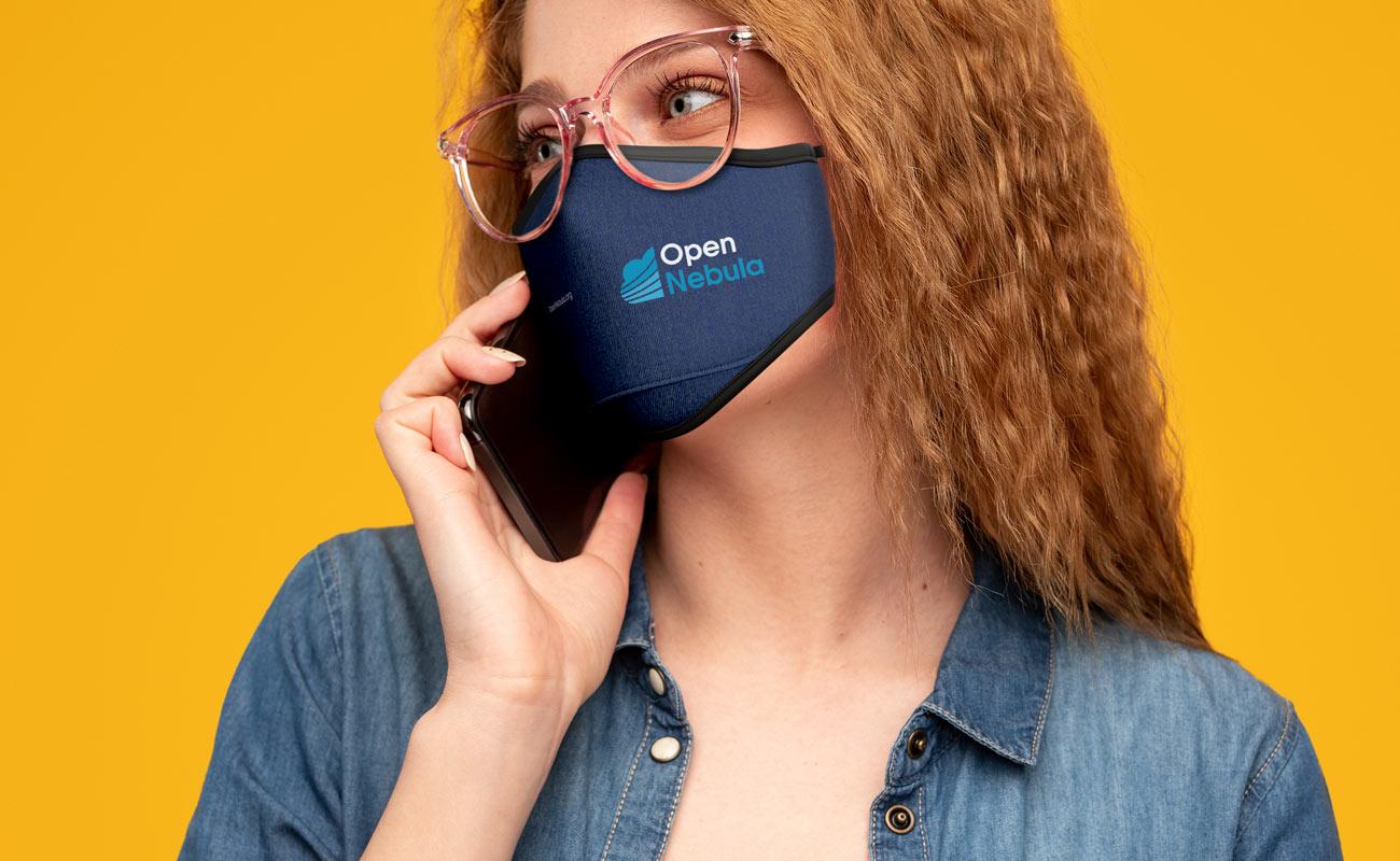Denim - Schutzmasken Bedrucken