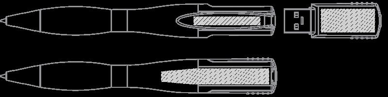 USB Kugelschreiber Siebdruck