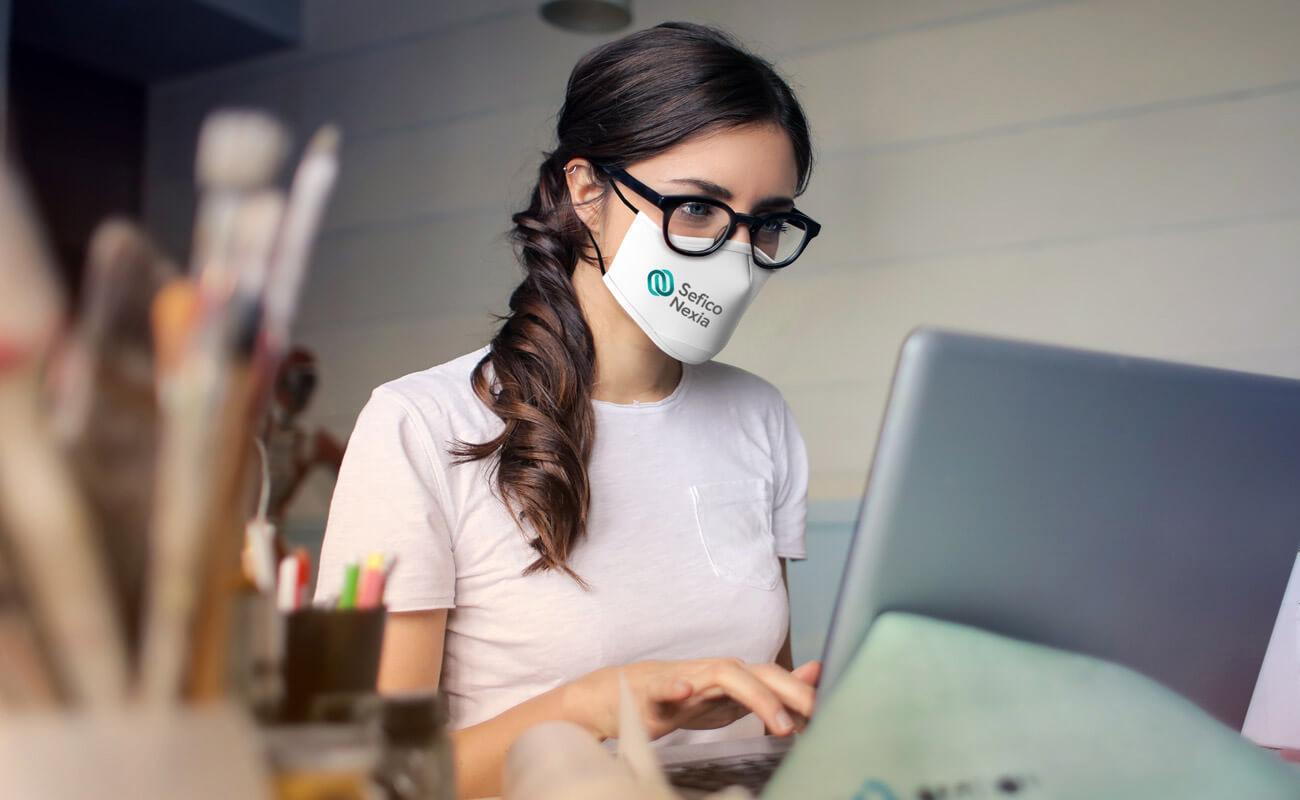 Sky - Schutzmasken Bedrucken
