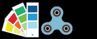 Pantone® Angaben Fidget Spinner